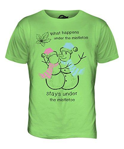 CandyMix Weihnachten Schneemann Herren T Shirt Limettengrün