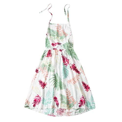 AZZRA Damen Vintage Print Ärmelloss Damen Casual Knie-Länge Kleid Prinzessin tüll v-Ausschnitt Braut Applique Abendkleid rückenfrei kurz Bustier Kleider mit blüte -