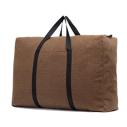 QCHOMEE Organizer Storage Bag, Reise Urlaub Ornament Aufbewahrungsbehälter, Tragetaschen Gepäck, großes Fassungsvermögen Closet Organizer, Umzugs Tasche One Size braun - Cargo Travel Organizer