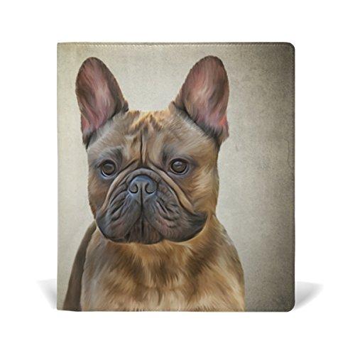 MyDaily Zeichenheft Französische Bulldogge, wiederverwendbar, Leder, 22,9 x 27,9 cm, für mittlere bis Jumbo-Größe, Hardcover, Schulbücher, Lehrbücher