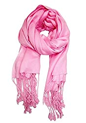 URBAN-TRENDZ Latest Collection of Viscose Pashmina Scarf Stole Duppatta Shawl with twisted fringes in Superfine Quality (Summer Colours) UT2258P