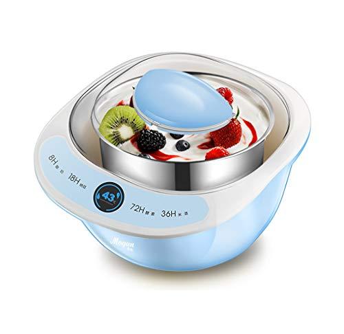 Edelstahl-liner (Zrf Elektrische Joghurt Maker Automatische Edelstahl Liner Natto Reis Wein Obst Enzym Fermenter Joghurt Salat Maschine Leben 1L (Blau) (Farbe : #1))