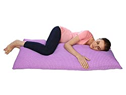 kidiCat Straight Body Pillow/Maternity Pillow/Pregnancy Pillow with Cotton and Zippered Cover