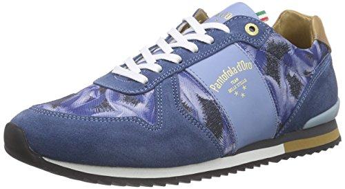 Pantofola d'Oro Teramo Print, Baskets Basses homme Bleu - Blau (BLUE INDIGO)