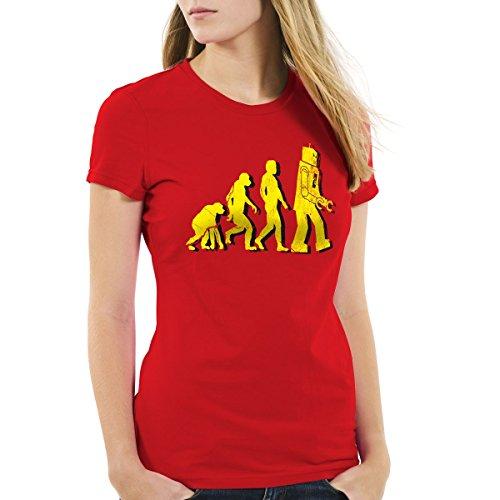 Robot Evolución Camiseta para mujer
