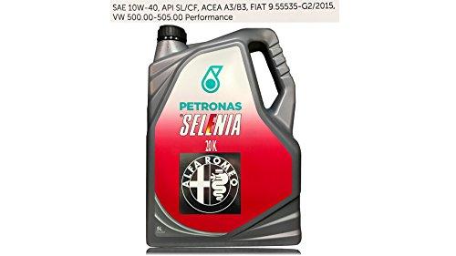 Huile moteur voiture Selenia 20K 10W40 5 litres