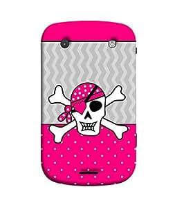 PrintVisa Designer Back Case Cover for BlackBerry Bold Touch 9900 :: BlackBerry Dakota :: BlackBerry Magnum (Illustration Black Face Alien Backcover Graphic Pink)