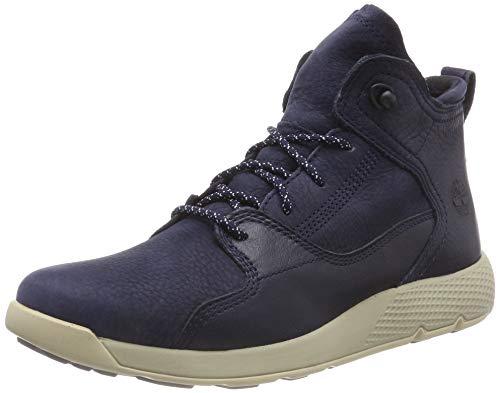 Timberland Unisex-Kinder Flyroam Leather Hiker Trekking- & Wanderhalbschuhe, Blau (Navy Nubuck P01), 38 EU
