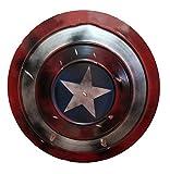 Versión dañada de Captain America Shield, 18.7 pulgadas Avengers 1: 1 imita el escudo que se usa para decorar la habitación