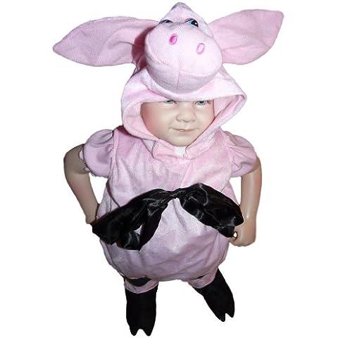 SY29, tamaño de 3-6 meses (62-68 cm), cerdo guarro traje trajes cerdo del traje del carnaval