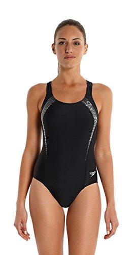 Speedo Badeanzug Damen Frauen schwarz blau Endurance10 mit Bruststützfunktion