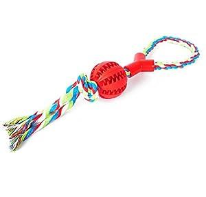 HNBGY Résistance aux morsures Manipuler la Corde de Noeud de Jouet de nourrisseur de Corde de Noeud pour l'entraînement d'animal familier (Rouge)