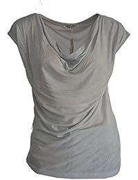 Angels never die t-shirt d'été pour femme à manches courtes avec wasserfallaussschnitt