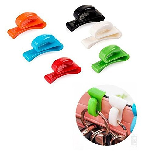 uctop Store 6Stück mehrfarbig tragbar Antiverlust Schlüssel Clips Organizer Handtasche Bag Schlüssel Haken Aufhänger Halterung