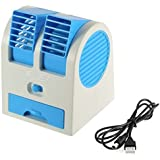 Faction Mini Fan And Portable Dual Bladeless Small Air Conditioner Water Air Cooler Powered By Usb And Battery Use Of Car|Home|Office (Color May Vary)