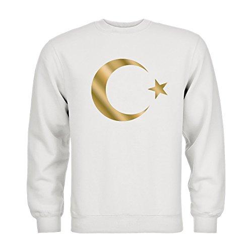 nder Sweatshirt Türkei Mondstern 20drpt15-ks00036-124 Textil white / Motiv gold Gr. 134/146 (Kind Türkei Kostüm)