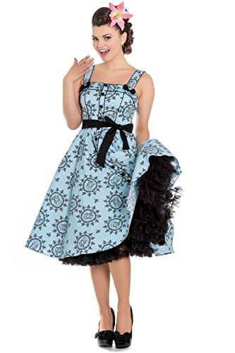 Hell Bunny - Robe - Sans Manche - Femme Bleu