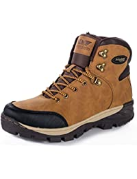ABTOP Hombre Botines Zapatos Botas Nieve Invierno Botas Impermeables Fur Forro Aire Libre Boots