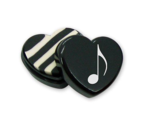 Radiergummi in Herzform mit Achtelnote (10-Stück-Packung) - Schönes Geschenk für Musiker
