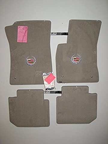 Cadillac Deville DHS DTS Grey Floor mats with Silver Crest Logo 2000 2001 2002 2003 2004 2005 by Lloyd (Cadillac Deville Dts)