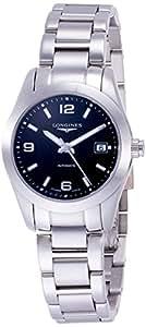 Orologio Longines Conquest Classic L22854566 Automatico Acciaio Quandrante Nero Cinturino Acciaio
