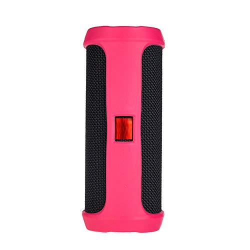 Prevently Portable Silikonhülle Für Jbl Flip 4 Bluetooth Lautsprecher Tragbare Bergsteigen Silikonhülle für Reisetasche Soft Silica Gel Aufbewahrungstasche Audio Case (Hot Pink) Silica Gel Case