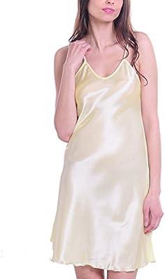 Mujer Satén Chemises Slip lencería Babydoll pijamas corto camisón