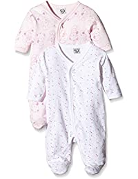 Care Baby Girls Sleepsuit, 2-Pack