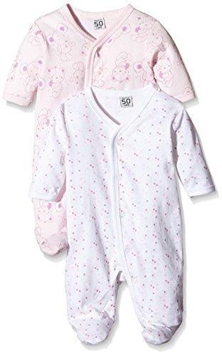 Care Baby-Mädchen Schlafstrampler, 2er Pack, Rosa (Old Rose 556), 9 Monate (Herstellergröße: 74 )