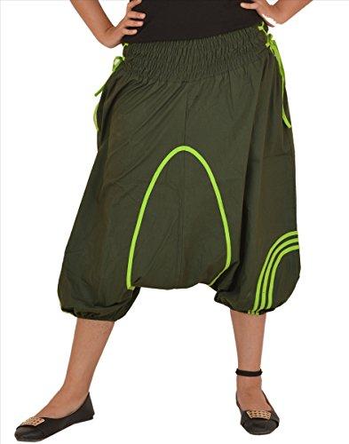 SNS 100% cotone Capri Afghani/harem/yoga Pant Green 4