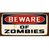 Wooden Funny Sign Wall Plaque Beware Of Zombies