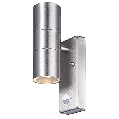 LED-Außenwandleuchte silber, 12,5