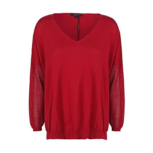 VALIN M771 Pull Tricot Femme,S-XL Rouge