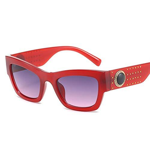 Taiyangcheng Polarisierte Sonnenbrille Klassische Vintage Quadrat Sonnenbrille männer Retro niet Leoparden Rahmen Sonnenbrille Frauen schwarz Kreis Beine Damen Shades Eyewear,A3