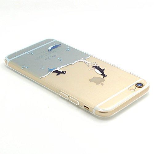 ARTLU® Neue Modelle TPU Silikon Schutz Handy Hülle Case Tasche Etui Bumper für Apple iPhone 6 plus 6S plus - Henna Series Apple W14 W12
