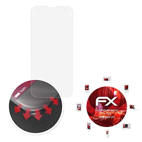 atFolix Schutzfolie passend für Yezz Andy 4EL2 LTE Folie, entspiegelnde & Flexible FX Bildschirmschutzfolie (3X)