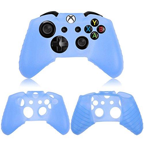 Preisvergleich Produktbild Silikonkautschuk Skin Case Gel Schutzhülle Hüllen für Xbox One Wireless Controller (Blau)
