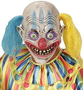 (Widmann 00403–Maske Psycho Clown mit Haar zweifarbig, Einheitsgröße)
