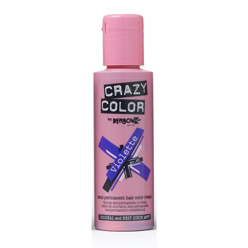 Renbow Crazy Color Semi-Permanent Hair Color Dye violette 43 - 100 ml, 1er pack (1 x 115 g) (Crazy Haar Farbe Dye)