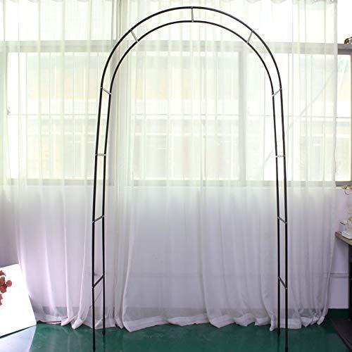 Bureze Garten Terrasse Balkon Hochzeit Eisen Bogen Blumenständer Straße Bleipflanze Weinrebe Rahmen Kürbis Mond Lotussäule Metall Bogen Regal