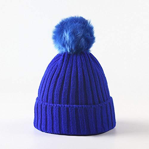 Huichao Chapeau d'enfant d'automne et d'hiver, Chapeau de bébé, Chapeau tricoté de 5 Couleurs,Blue