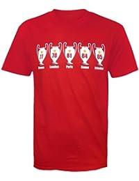 Liverpool Football Gift 5 Times European Cup Mens T-Shirt