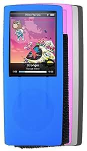 Zeikos iHip Silicone Case for iPod Nano 4G - 4 Pack