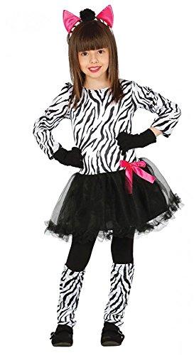 ebra mit pinker Schleife - Kinderkostüm, Größe:104 - 3 bis 4 Jahre (Zebra Halloween Kostüm Kleinkind)