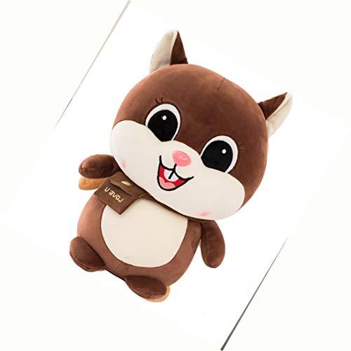 djxgnbm Plüschtiere, Puppen, Zeichentrickfiguren, süßes Haustier Eichhörnchen Puppe Plüschtier süßes weiches Eichhörnchen Kissen Kind Geschenk Freundin 35cm -