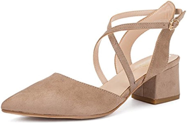 DKFJKI Damenschuhe Einzelne Schuhe Koreanisch Tipps Plattform High Heel Cross Bandage Flach