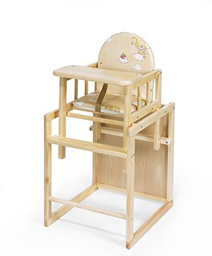 KOKO- Kombi-Hochstuhl | PAUL | umbaubar zur Stuhl-Tisch Kombination | Farbwahl (Kiefer)