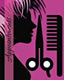 "Appointments: Purple 6 Column Appointment Book for Salons, Spas, Hairdressers and other Business | Weekly: Monday to Saturday | 8"" x 10"" Paperback: Volume 11 (Beauty)"