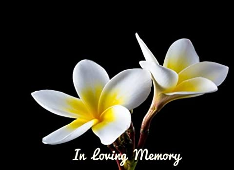 In Loving Memory: Cream Floral Cover Design, Celebration Of Life, Condolence Book. Wake, Memorial Service, Church, Funeral Home Guest Book for Friends ... With Encouraging Quotes, 90 Pages, 8.25x6in