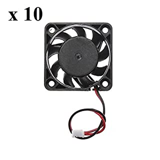 10 x 4cm 40mm PC Fan Silent Cooling Heat Sink Computer Case 5V 2 Pin Wire Mini Black